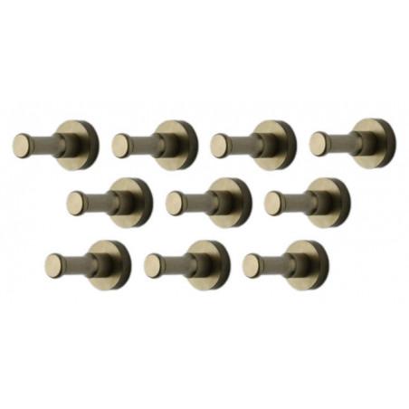 Set di 10 ganci appendiabiti in metallo, staffe da parete