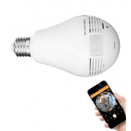 Kamera HD w lampie, e27 dla Androida, IOS  - 1