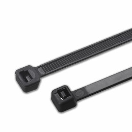 Lot de 150 attaches fortes, 7,8x370 mm (noir, extra large)