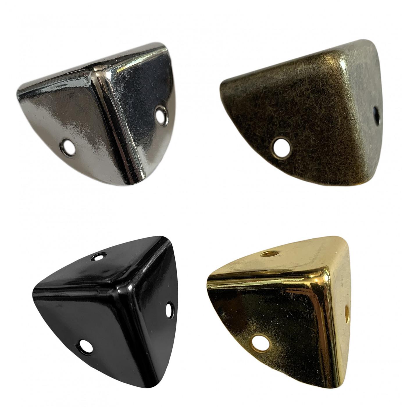 Set van 24 kisthoeken 25x25x25 mm, zwart