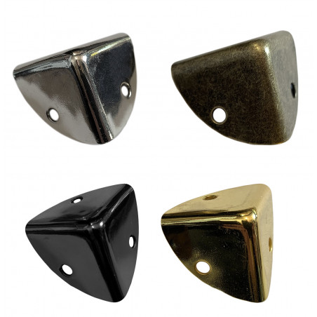 Set of 24 box corners 25x25x25 mm, bronze