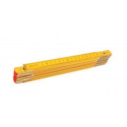 Règle pliante en bois, 2 mètres  - 1