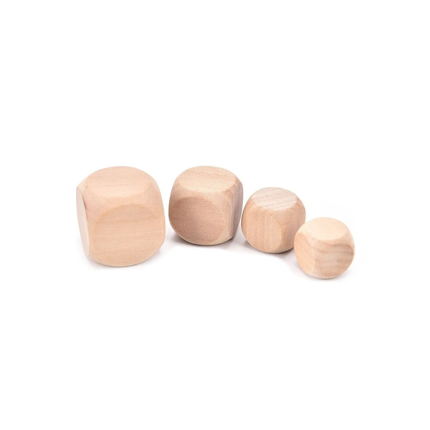 Set of 100 wooden cubes (dice), size: small (8 mm)  - 1