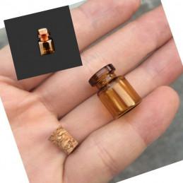 Zestaw mini szklanych butelek, 13x18x6 mm (50 szt.)  - 1