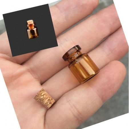 Set Mini Glasflaschen, 13x18x6 mm (50 Stück)