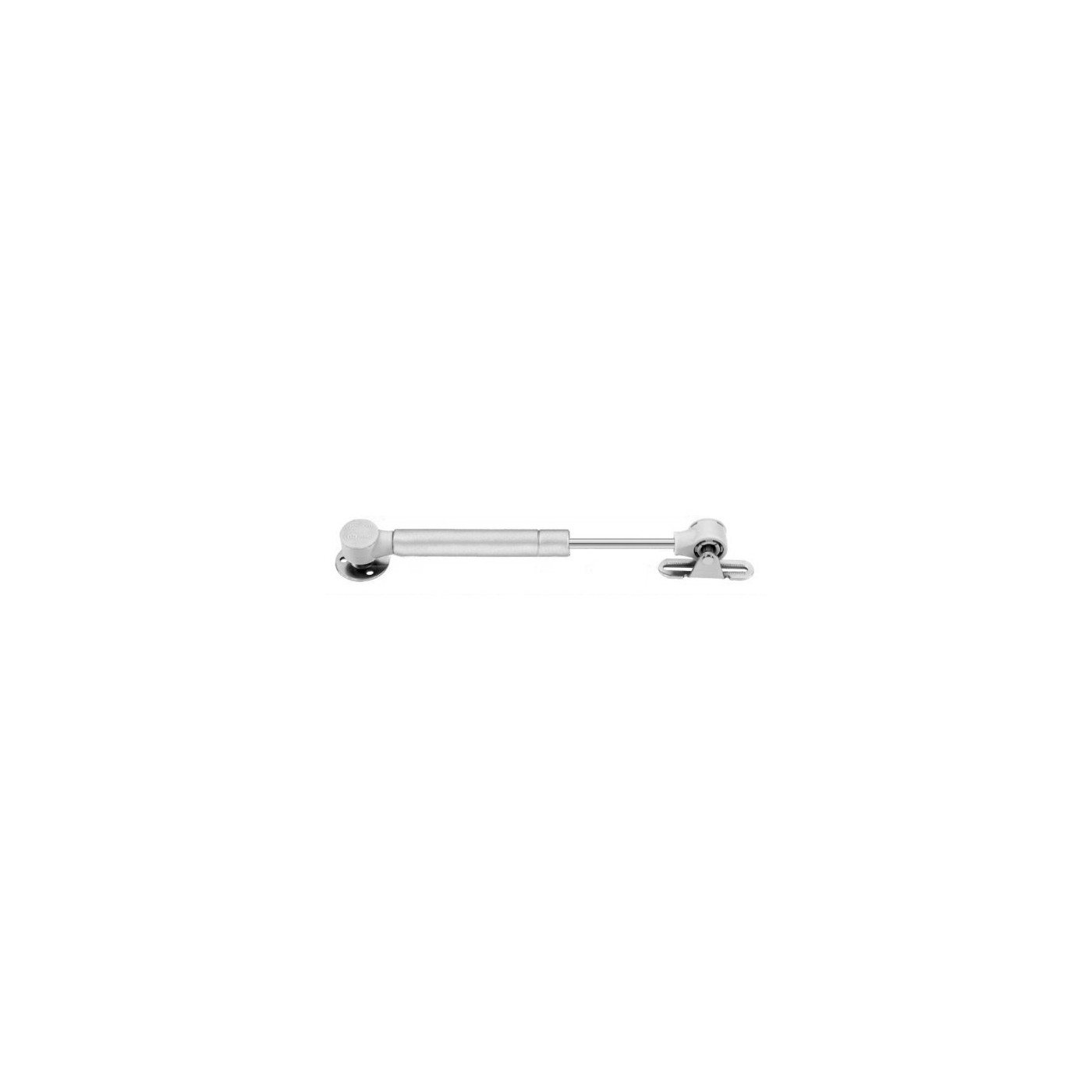 Universal gas spring with brackets (50N/5kg, 172 mm, silver)  - 1