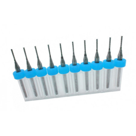 Set van 10 micro freesjes in een doosje (1.10 mm)