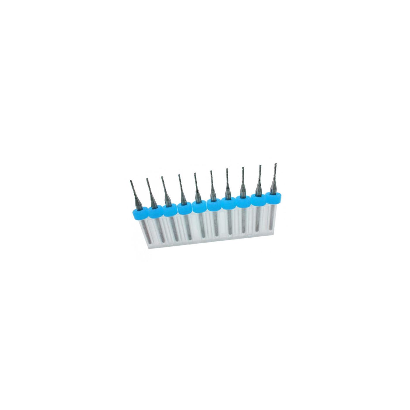 Set van 10 micro freesjes in een doosje (0.80 mm)