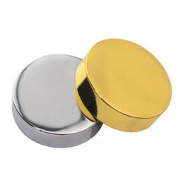 Ensemble de 24 capsules décoratives en métal, argent 11,5x5,0 mm