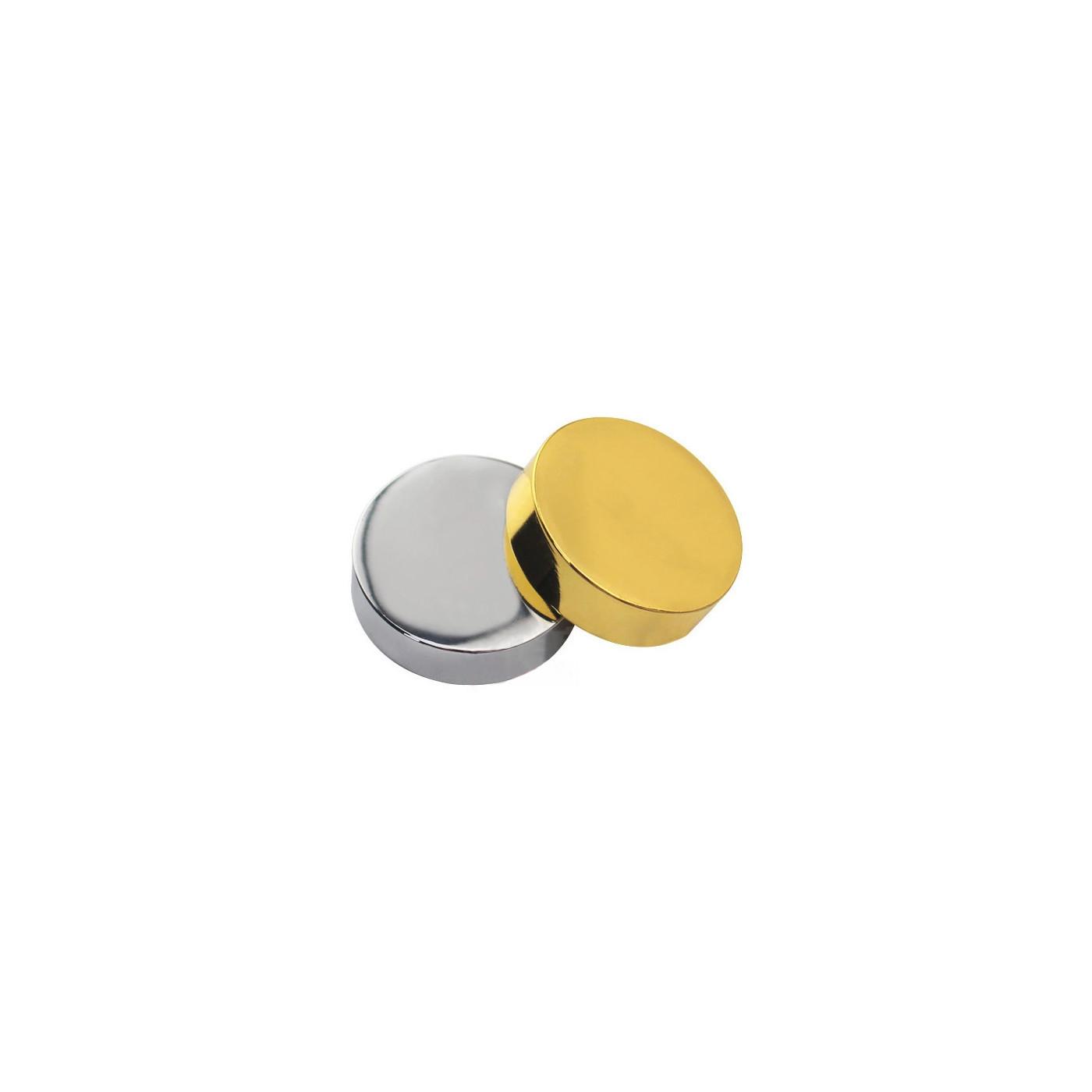 Set di 24 tappi decorativi in metallo, argento 11,5x5,0 mm