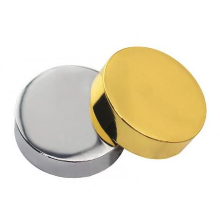 Ensemble de 24 capsules décoratives en métal, or 11,5x5,0 mm