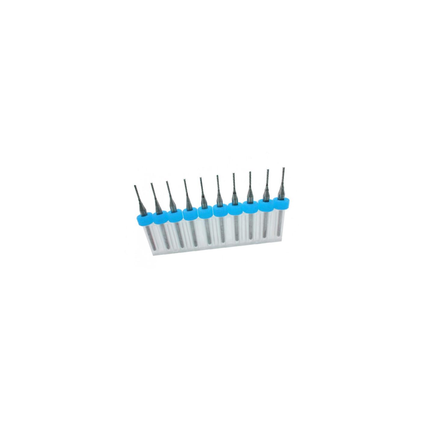 Set van 10 micro freesjes in een doosje (1.70 mm)  - 1