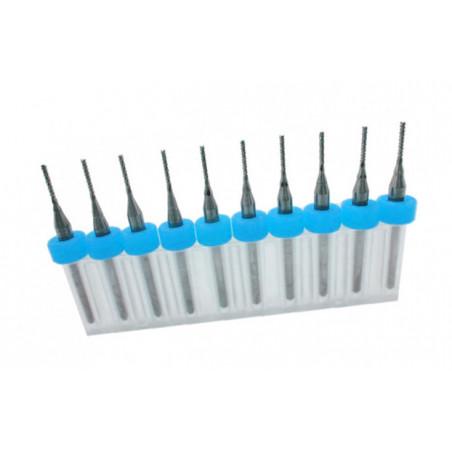 Set van 10 micro freesjes in een doosje (3.175 mm)