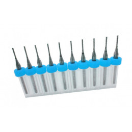 Combi set of 10 micro milling cutters (1.00-3.00 mm)