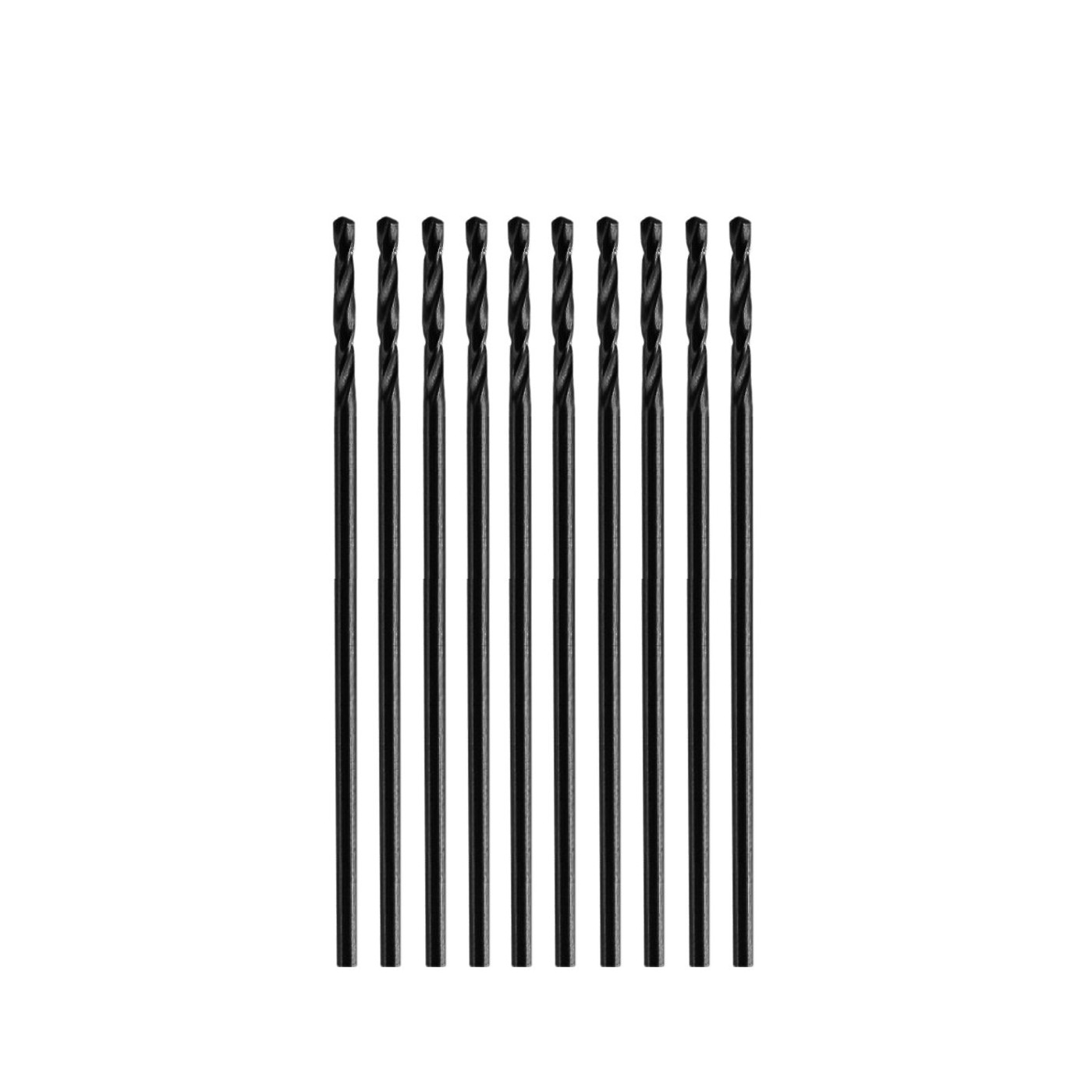 Set van 10 kleine metaalboren (0,7x28 mm, HSS)