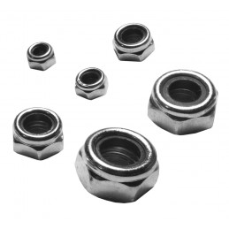 Set of 200 pieces self-locking nuts (M4-M12)  - 1