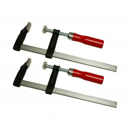 Set of 2 F clamps (50x150 mm)  - 1