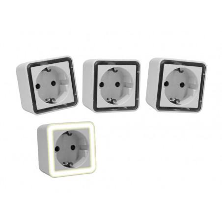 Conjunto de 3 luzes noturnas com sensor de luz (também para crianças)  - 1