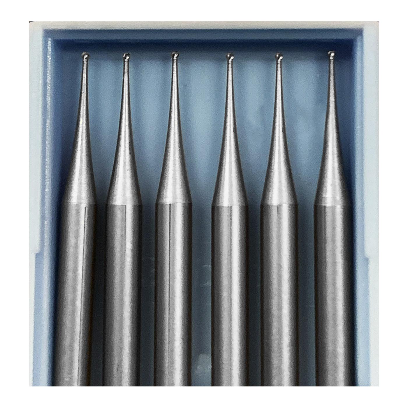 6 mini frezów HSS, 0,5x40 mm (tylko głowica kulowa)  - 1