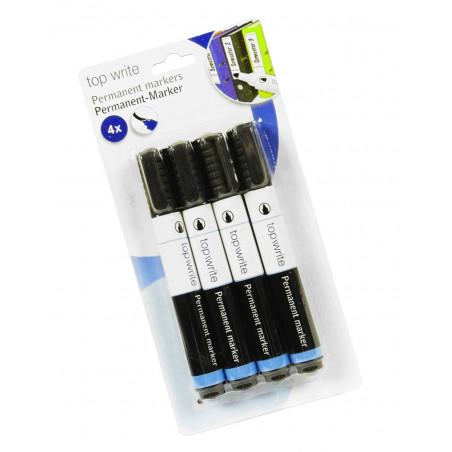 Zestaw 4 stałych markerów (wodoodporne, czarne)