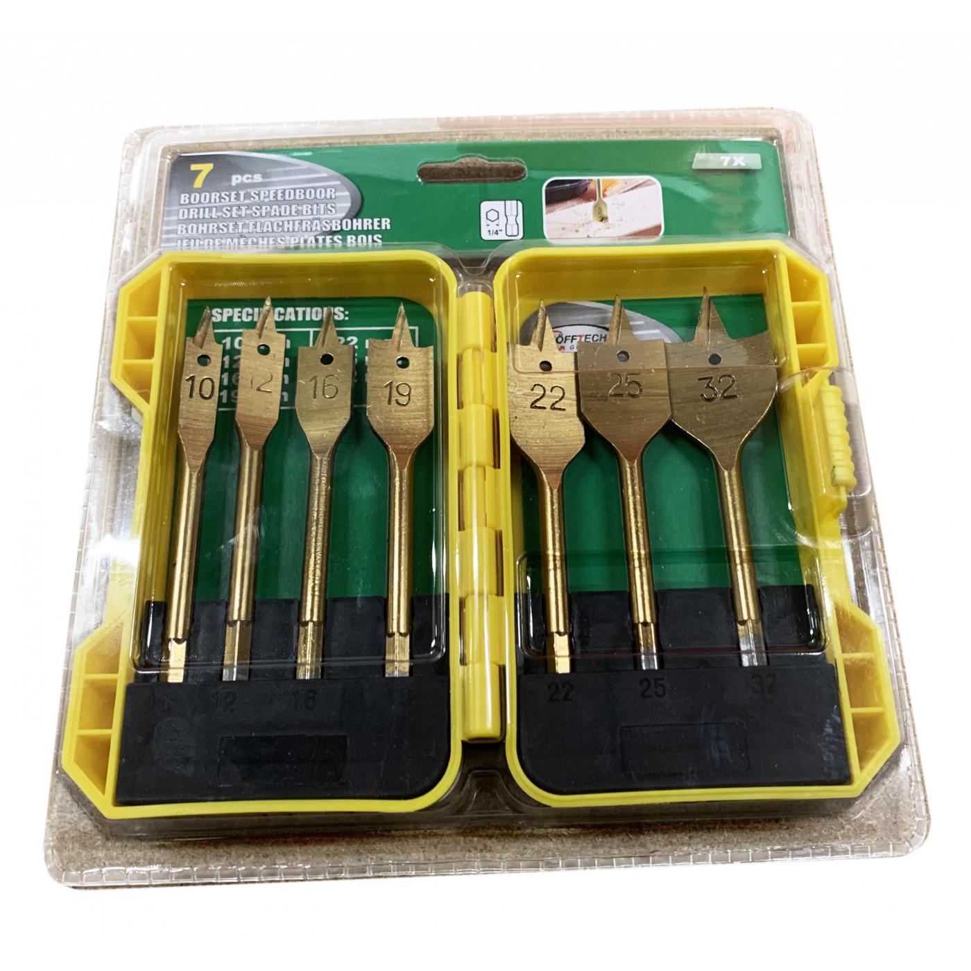 Spade bits wood drills (7 pcs)  - 1