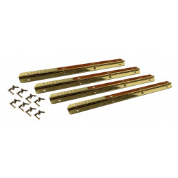 Conjunto de 4 bisagras extra largas (bisagra de piano, oro, incluidos los tornillos)  - 1