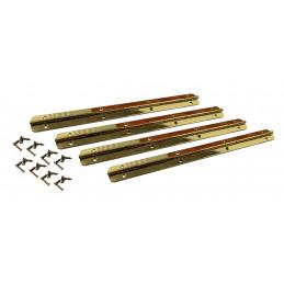 Conjunto de 4 dobradiças extra longas (dobradiça para piano, ouro, incluindo parafusos)  - 1
