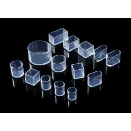 Set of 32 flexible chair leg caps (outside, round, 19 mm, transparent) [O-RO-19-T]  - 4