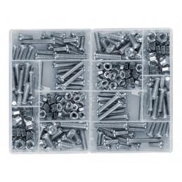 Set di 250 pezzi bulloni e dadi in 2 scatole