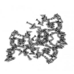 100 mini screws (2.5x8 mm, countersunk, silver color)