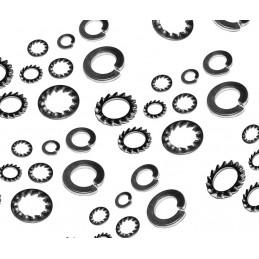 Set di 1440 rondelle elastiche (lisce e dentellate)