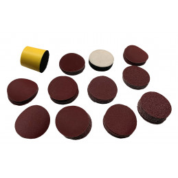 Set of 50 mm hand sanding pad (with 100 discs, grit 80-2000)