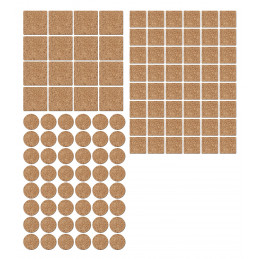 Set of 112 anti-scratch, anti-slip floor gliders (cork