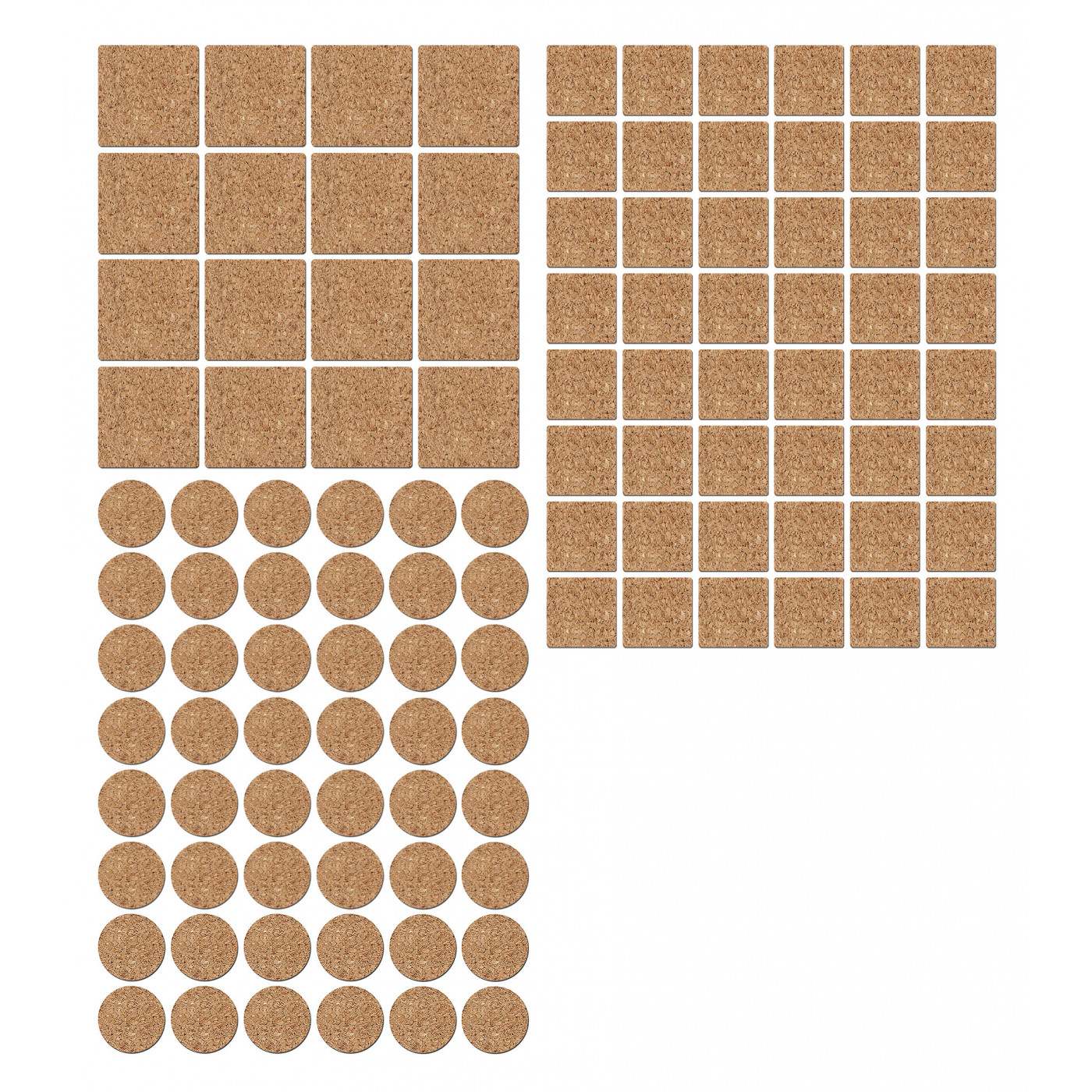 Set of 112 anti-scratch, anti-slip floor gliders (cork