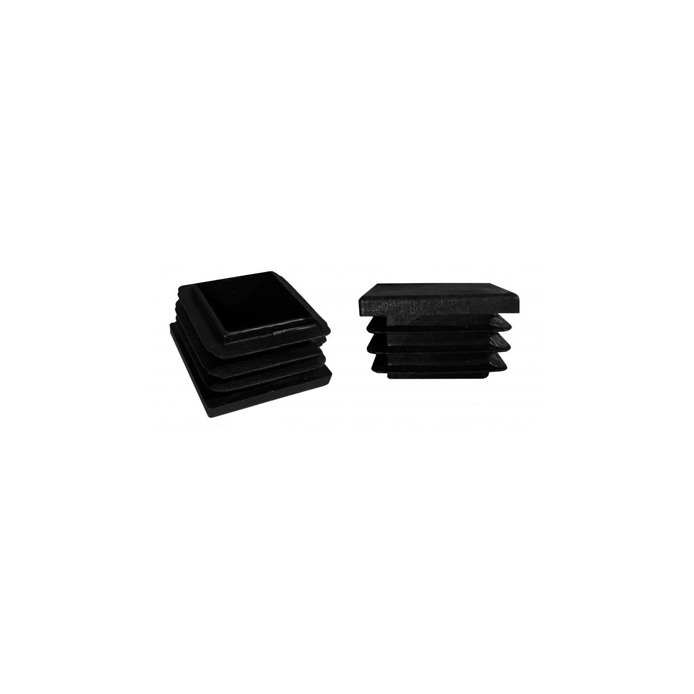 Set of 50 tube caps (F5/E9/D10, black)