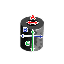 Set van 20 kunststof afstandhouders (6x12x5 mm, zwart)