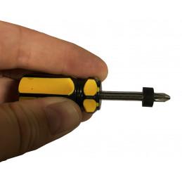 Set of 20 plastic spacers (6x12x7 mm, black)  - 2