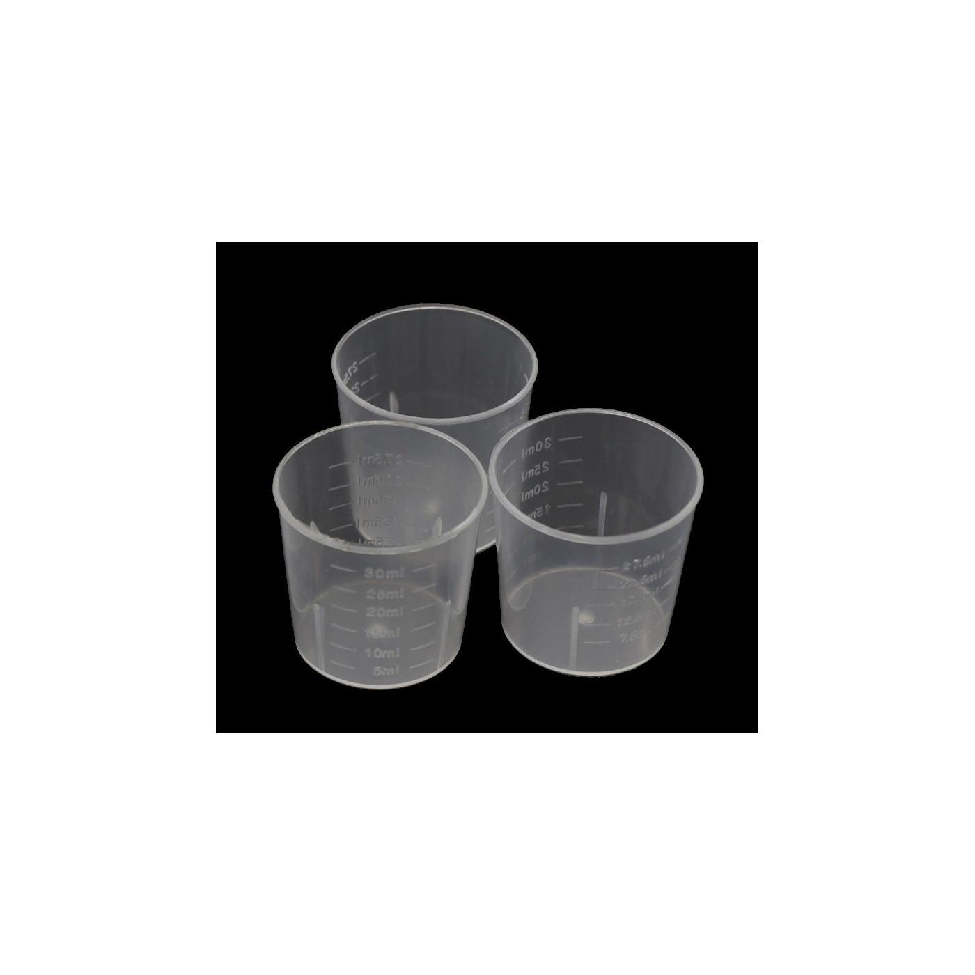 Set von 60 Mini-Plastikmessbechern (30 ml, für häufigen