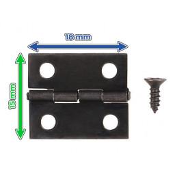 Zestaw 50 sztuk małych żelaznych zawiasów (ciemnobrązowy, 18x15 mm)  - 2