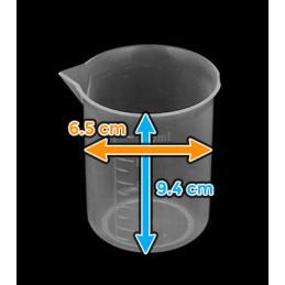 Set von 20 Messbechern (250 ml, transparent, PP, für häufigen