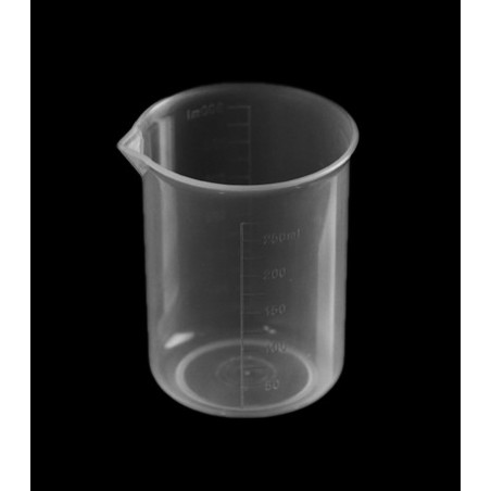 Set of 20 measuring cups (250 ml, transparent, PP, for frequent