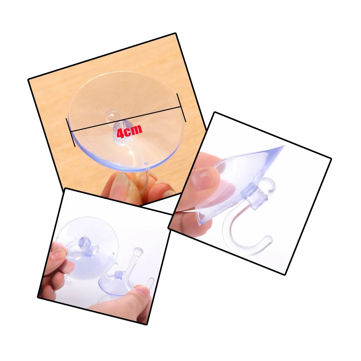 Duży zestaw 100 gumowych przyssawek z hakiem (średnica 40 mm)