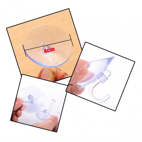 Grote set van 100 rubber zuignapjes met haakje (40 mm diameter)