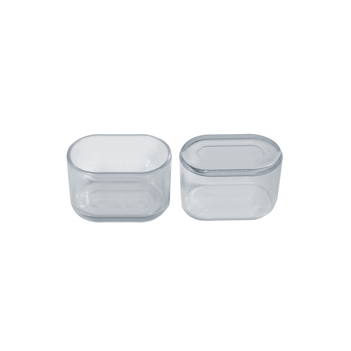 Set of 32 silicone chair leg caps (outside, oval, 20x40 mm