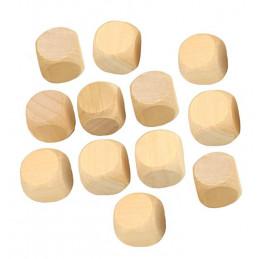 Zestaw 100 drewnianych kostek (kostki) rozmiar: duży (25 mm)