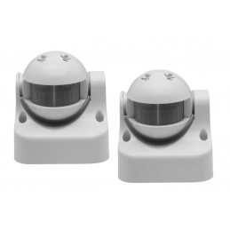 Jeu de 2 détecteurs de mouvement (en saillie, 230 volts, 50 Hz, blanc)  - 1