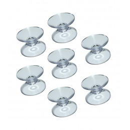 Set of 60 rubber suction cups double (30 mm)