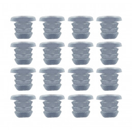Conjunto de 300 tampas de borracha, tampões, amortecedores de porta (tipo 1, transparente, 5 mm)  - 1