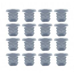 Set von 300 Gummikappen, Puffern, Türklappen (Typ 1, transparent, 5 mm)  - 1