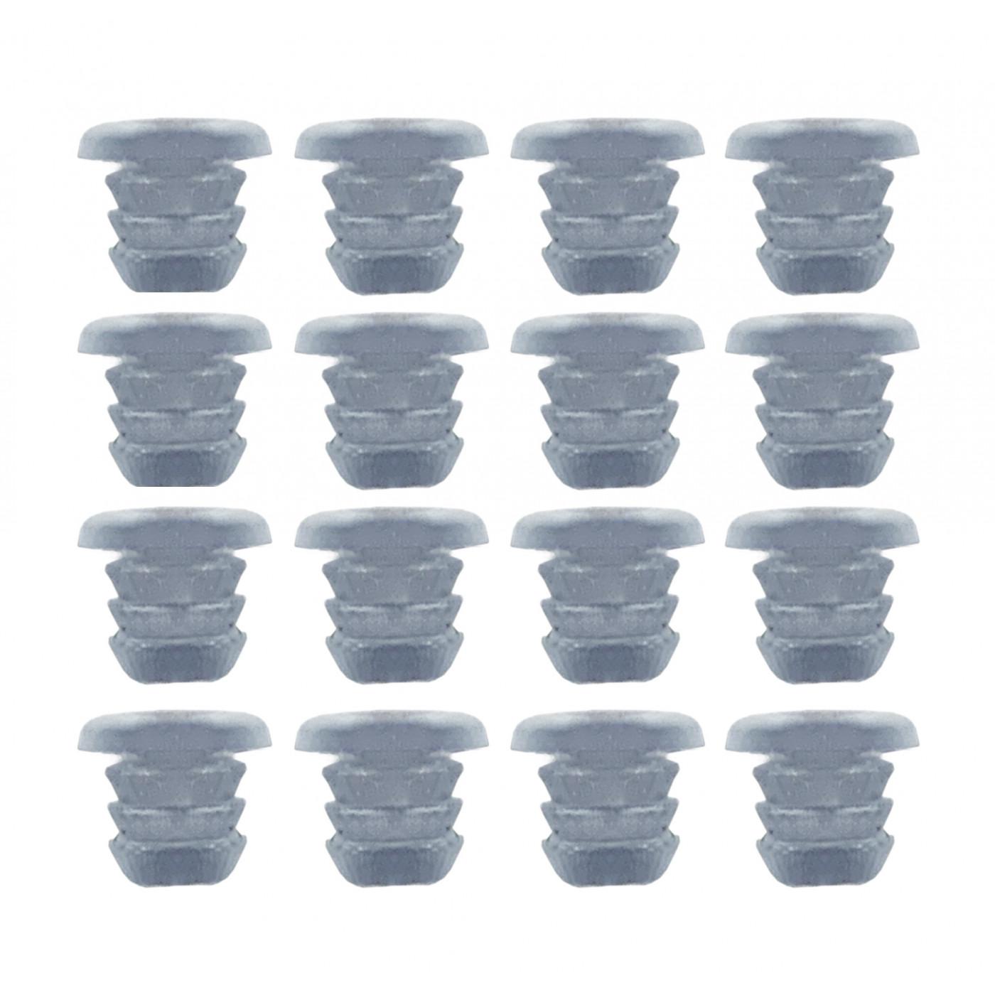Set of 300 pvc caps, buffers, door dampers (type 1